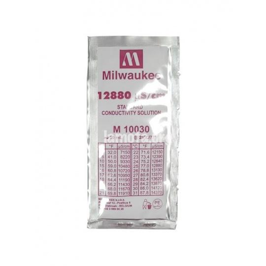 Solución de calibración EC 12.88 MS/CM (Milwaukee) - Sobre 20 ml