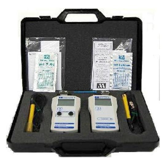 Maletín Profesional, medidor pH MW100 + medidor EC MW302 MILWAUKEE