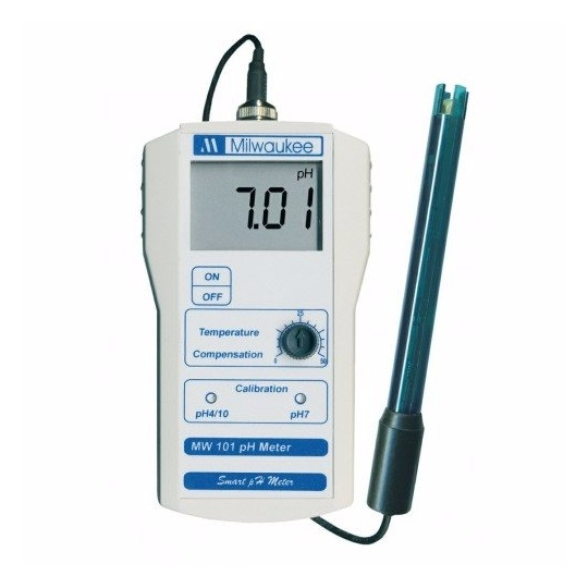 Medidor portátil de pH MW100, con sonda (Milwaukee)